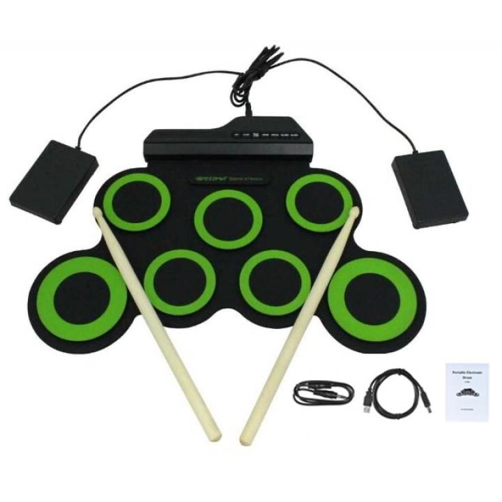 Барабани електронні USB гнучкі, барабанна установка, педи G3002, 102720