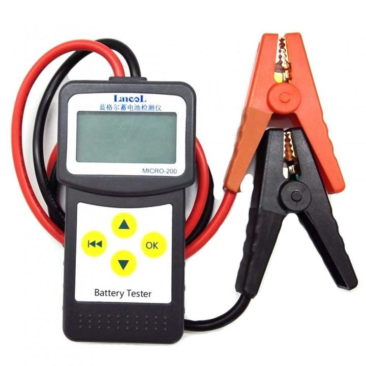 Тестер автомобільного акумулятора, цифровий, 12В, Lancol MICRO-200, 100106