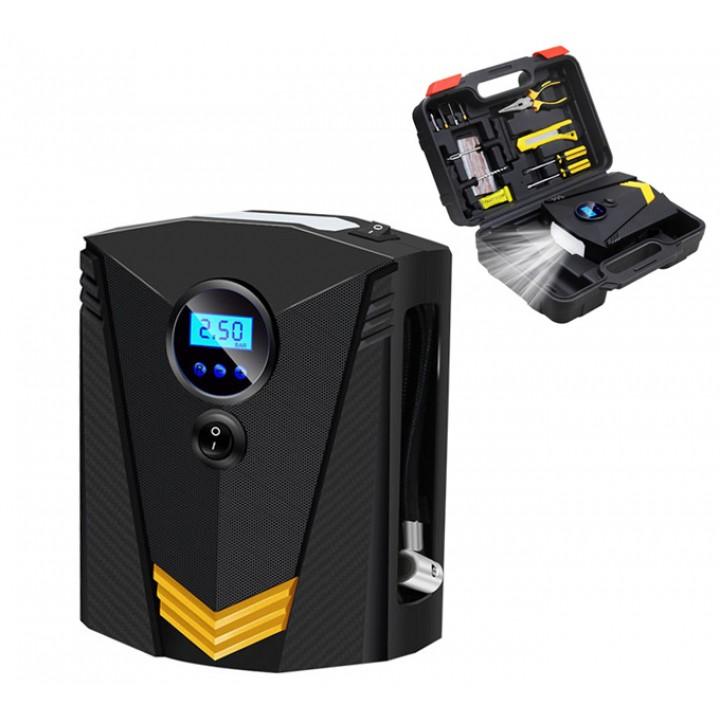 Компресор насос цифровий автомобільний для шин ЖК CZK-3634 з інструментами, 105629