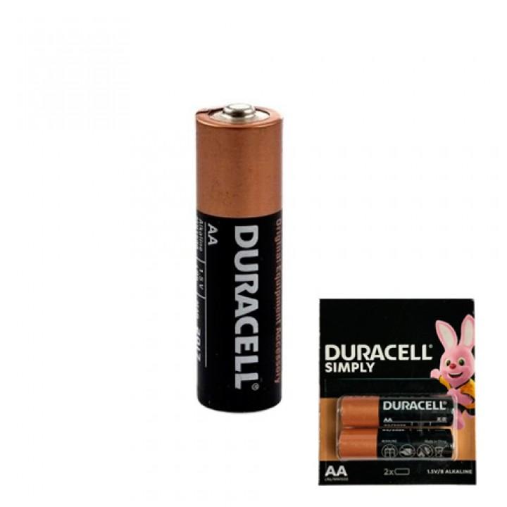 Батарейка AA LR6 Duracell Simply лужна 1.5В, 100425