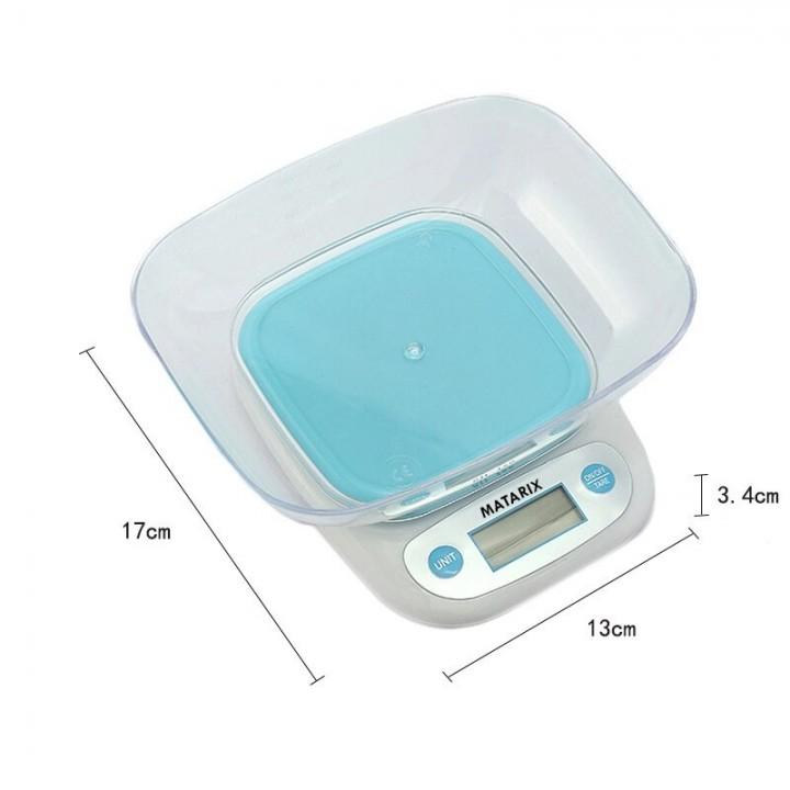 Ваги кухонні електронні до 7кг, точність 1г, з чашею, Matarix MX-403, 105601