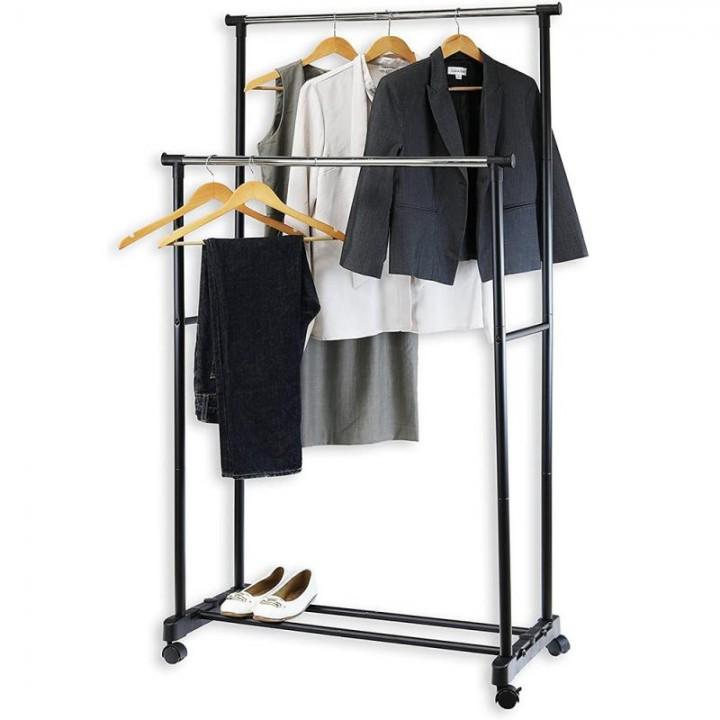 Підлогова стійка вішалка для одягу M до 30кг, 72х37х135см регульована, 105604