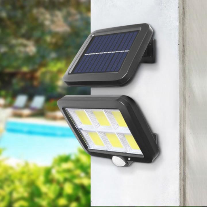 Вуличний LED ліхтар світильник на сонячній батареї, 120 COB IP65, настінний, 105614