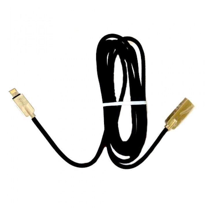 USB дата кабель Lightning 2м для Apple iPhone, iPad, iPod, в обплетенні, 105619