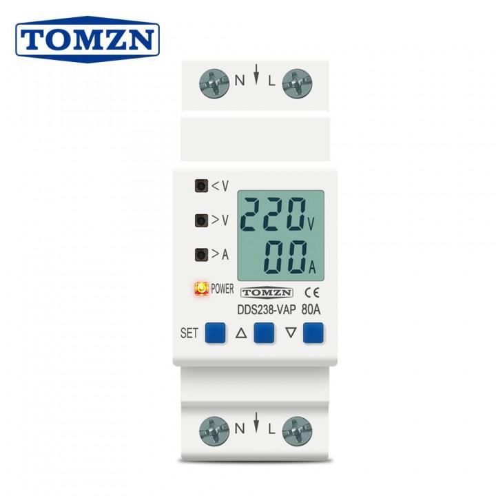 Реле контролю напруги і струму з ЖК, 220В, 80А, 2DIN, DDS238-VAP, 105625