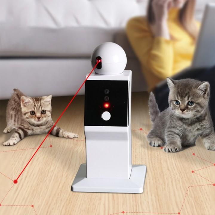 Автоматична лазерна указка іграшка робот проектор для кішок, батарейки, 105632