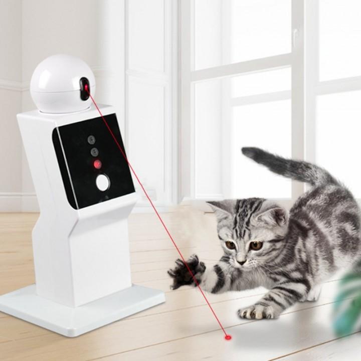 Автоматична лазерна указка іграшка робот проектор для кішок, USB, 105633