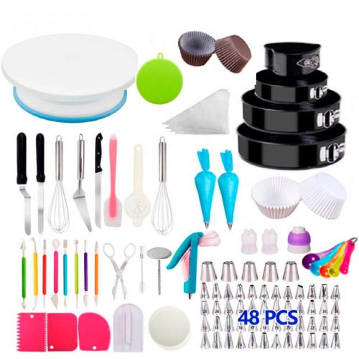 Набір для декору тортів кексів, кондитерські інструменти, 445шт і підставка, 105640