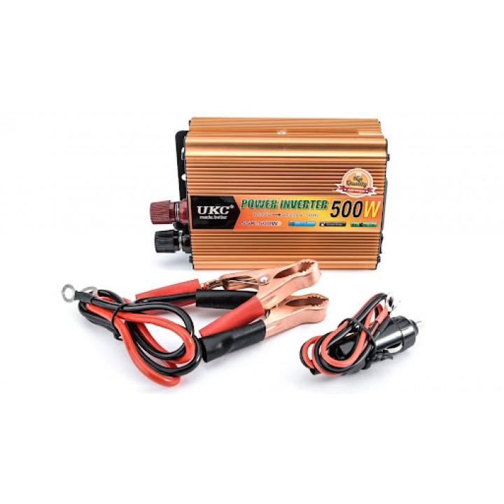 Перетворювач напруги DC/AC авто інвертор 500Вт 12-220В SSK-500W, 105648