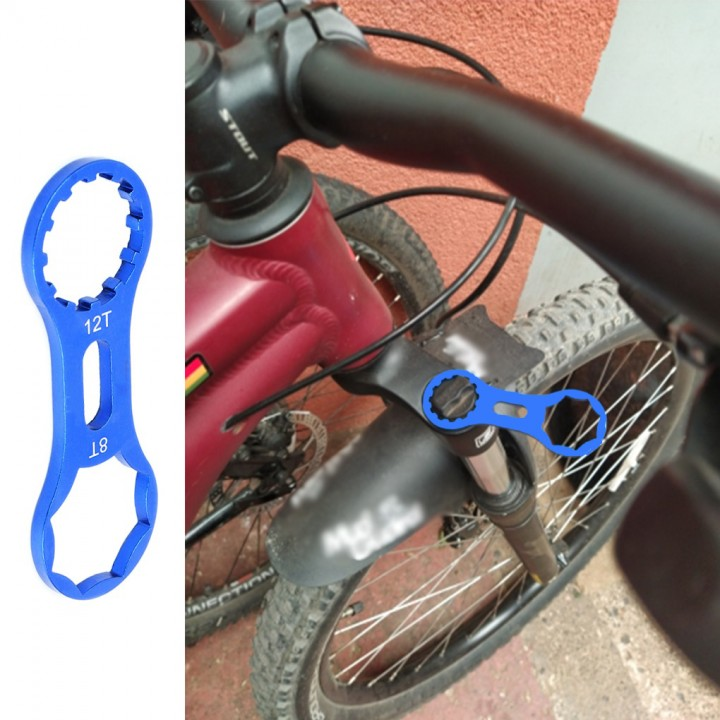 Ключ торцевої для обслуговування велосипедних вилок Suntour, 2в1, 8T і 12T, 105659
