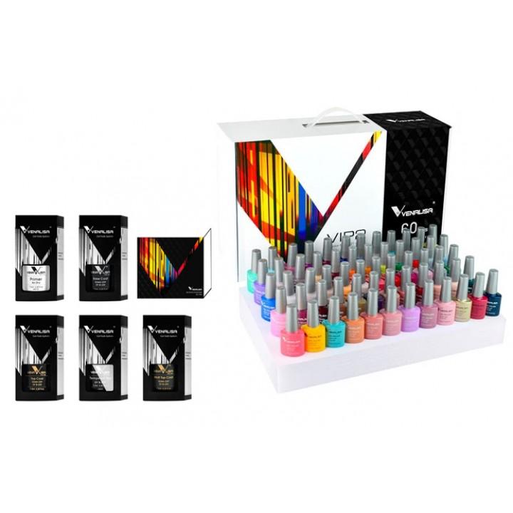 Набір гель-лаків для манікюру 60 кольорів, професійний Venalisa 31-90, 102048