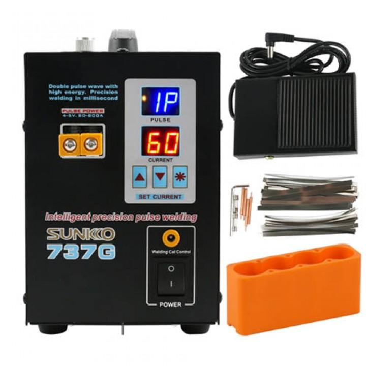 Апарат контактного точкового зварювання для АКБ 18650, 800A, Sunkko 737G, 105208