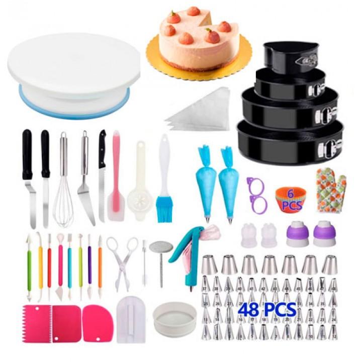 Набор для декора тортов кексов, кондитерские инструменты, 212шт и подставка, 105638