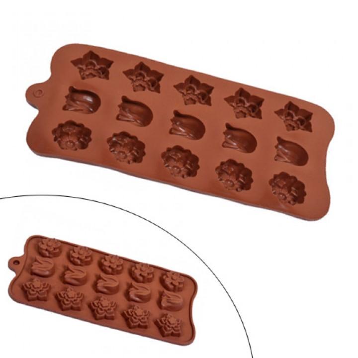 Форма силіконова для кейк-попса, льоду, цукерок, Тюльпани, 105535