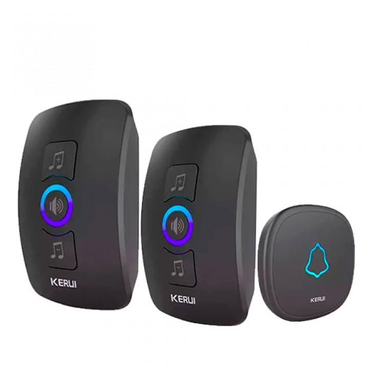 Безпровідний дверний дзвінок і 2 приймача 433МГц KERUI M525 сигналізація, 100873