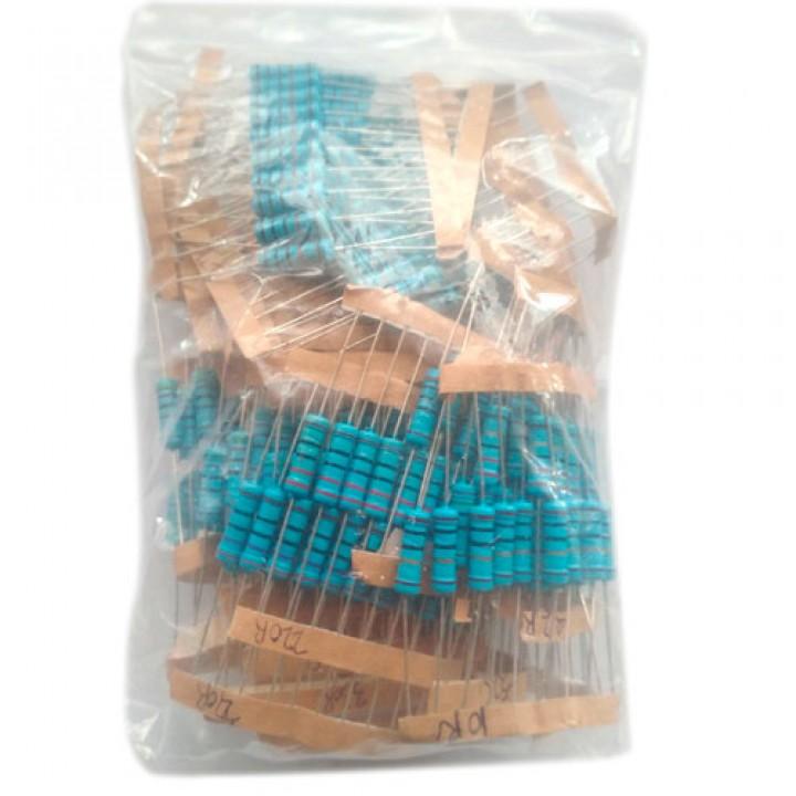 300x Резистор 2Вт MF 1% 10Ом-1МОм, набір, 102389