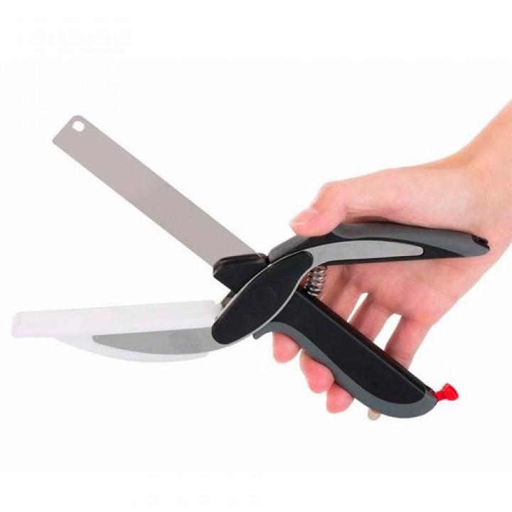 Ніж ножиці з обробною дошкою 2в1, нержавіюча, 105590