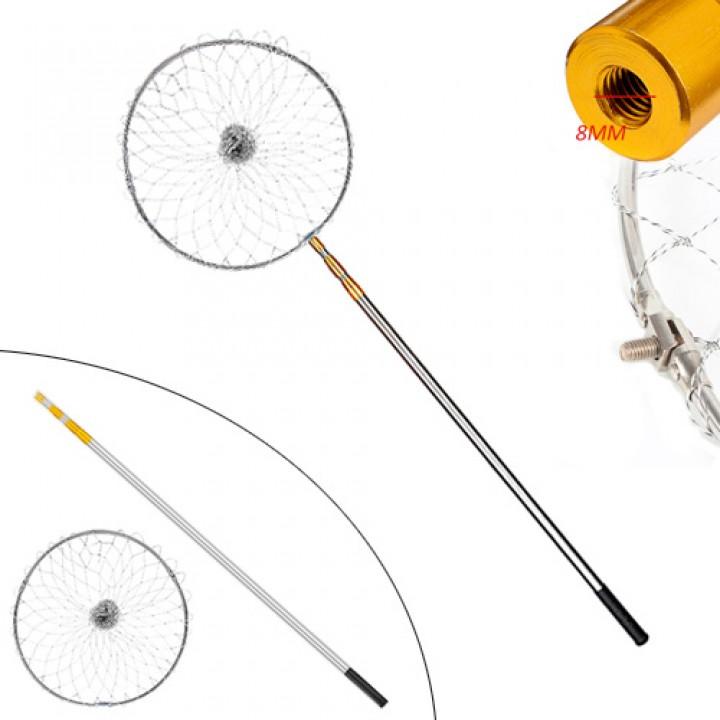 Підсак сачок рибальський 4.1м телескопічний круглий, алюміній, 105531