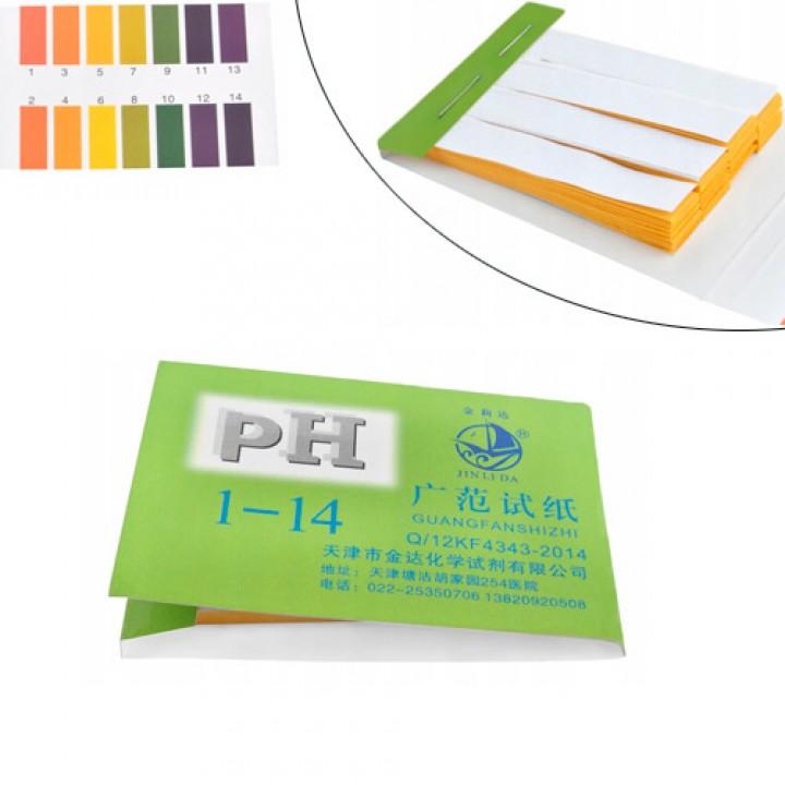 Лакмусовий індикаторний папір pH тест смужки pH1-14, 72шт, 105566