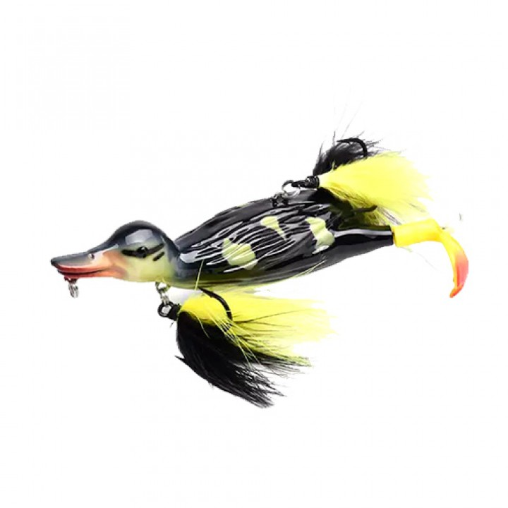 Воблер Качка приманка тверда 3D 12см 30г на щуку сома ALLBLUE Stupid Duck, 103420