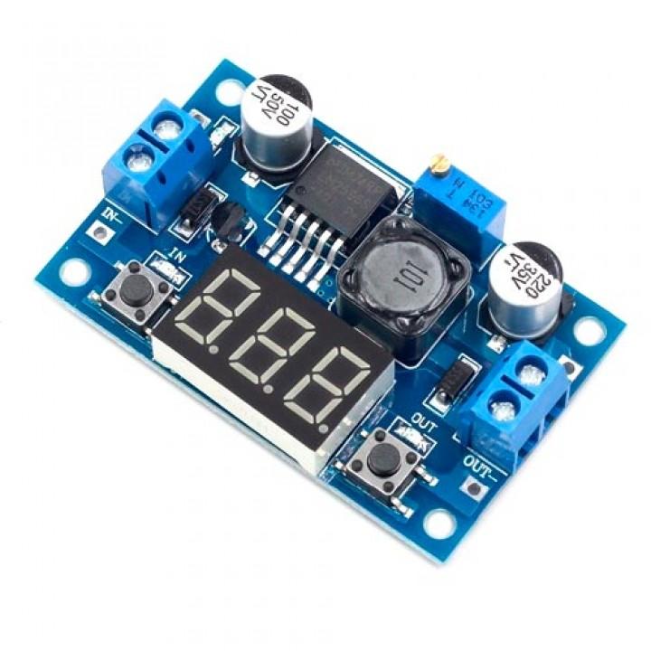 Перетворювач напруги понижуючий LM2596S 4-40 на 1-37В 15Вт, вольтметр, 102940