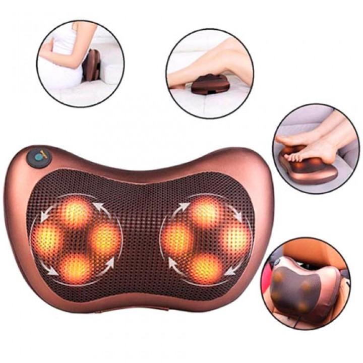 Масажна подушка автомобільна з ІК-підігрівом, 1 режим, масажер Шиацу, 100049