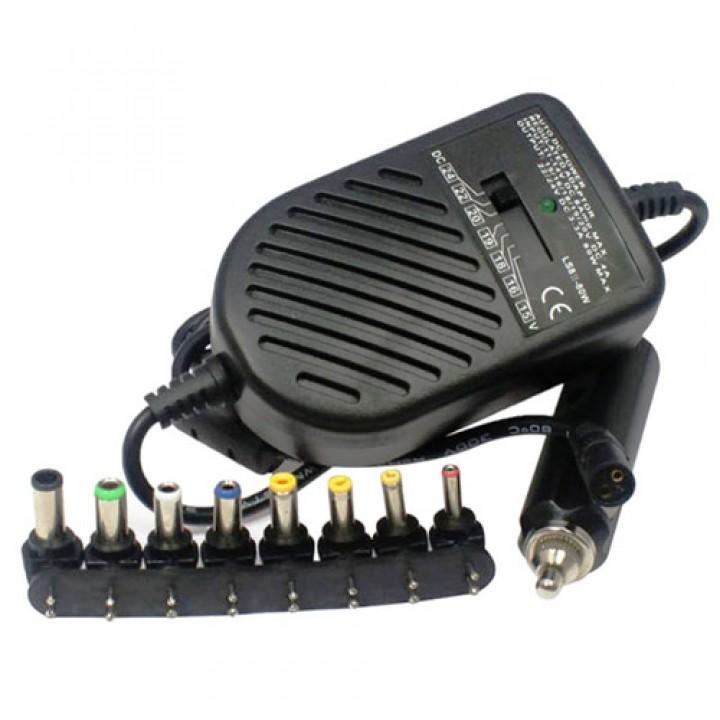 Блок живлення автомобільний для ноутбука 15-24В 80Вт універсальний, 101605