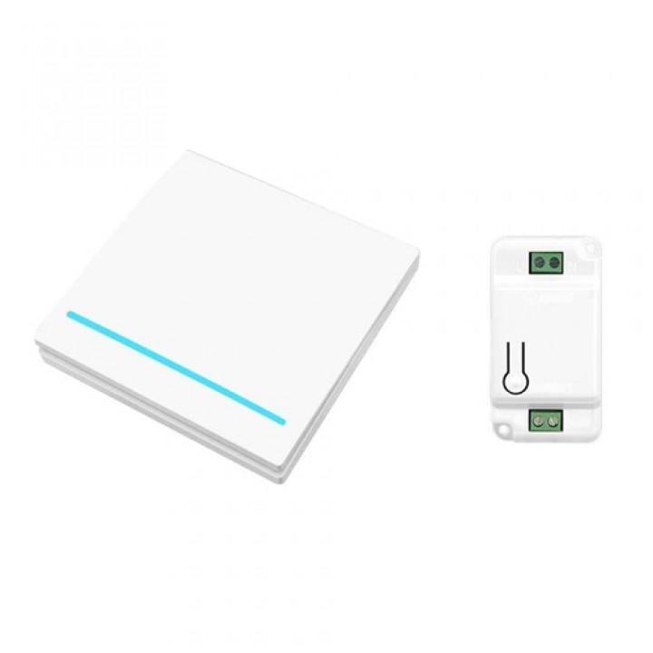 Вимикач бездротової, 1 клавіша, 1 модуль, WHK01 білий, 105579