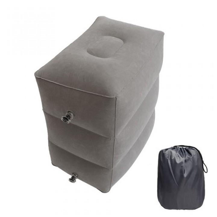 Подушка надувна для подорожей 3 рівня пуф під ноги універсальна, 103461