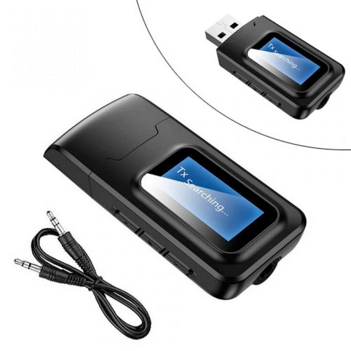 """Bluetooth 5.0 аудіо приймач передавач звуку з 1.2 """"ЖК, VIKEFON BT-2в1, 105573"""