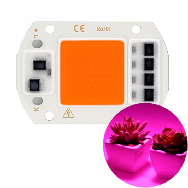 Світлодіодна фіто матриця з драйвером COB LED 50Вт 220В фітосветодіод, 104935