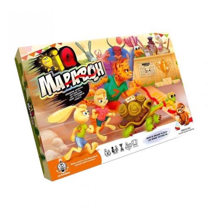 Настільна гра IQ Марафон, УКР, 112 карт, Danko Toys, G-IQM-01-01U, 105582