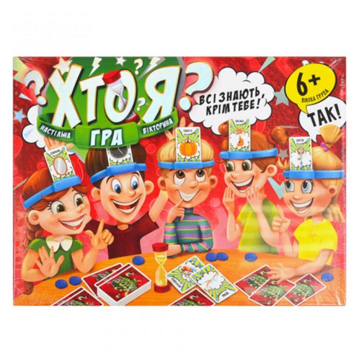 Настільна гра вікторина Хто Я? УКР 168 карт, Danko Toys, HIM-02-01, 105577