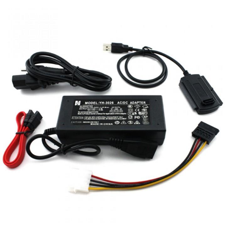 Перехідник USB 2.0 - SATA, IDE, 2.5 / 3.5 і блок живлення, 101935