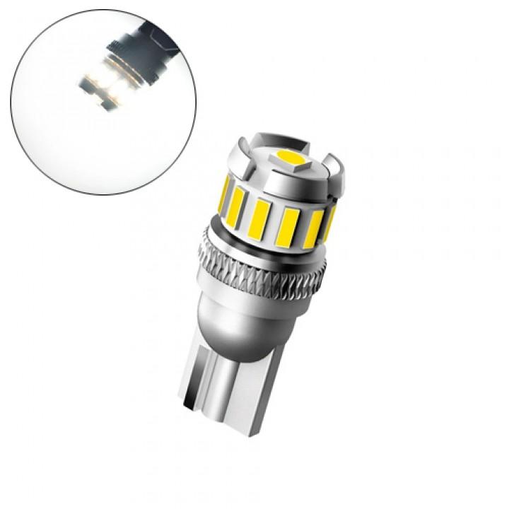 LED T10 W5W лампа в автомобіль, 12 + 1 SMD 4014 3030, з обманкою, білий, 105549