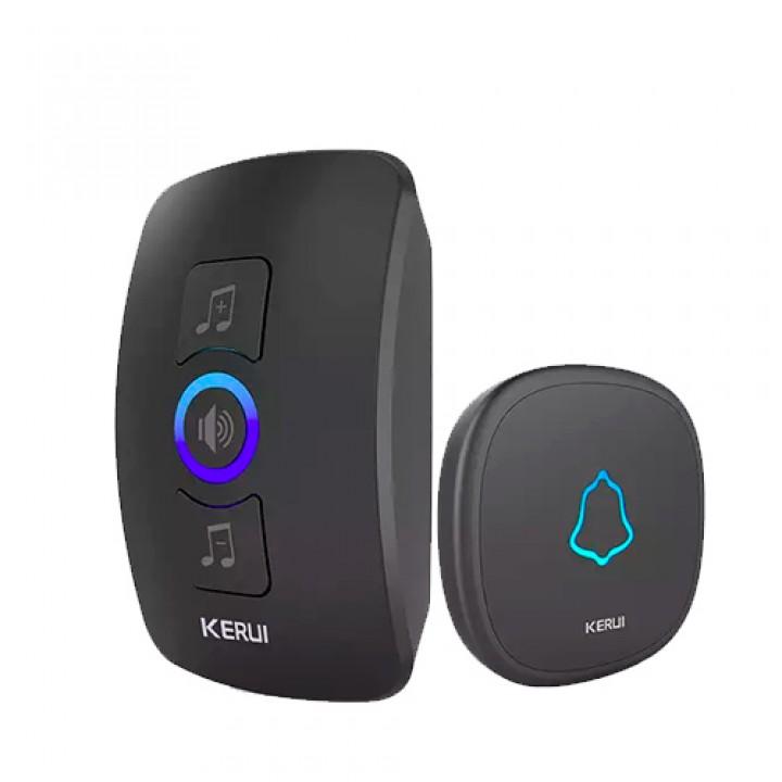 Безпровідний дверний дзвінок 433МГц 32 мелодії KERUI M525 з сигналізацією, 100706