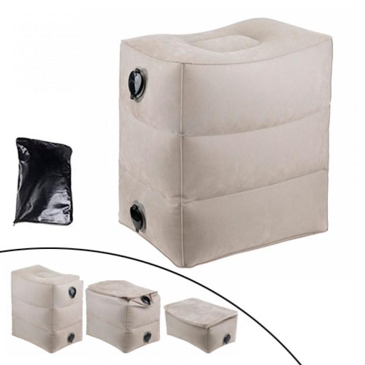 Подушка надувна для подорожей 3 рівня пуф під ноги, гермомешок, 103469