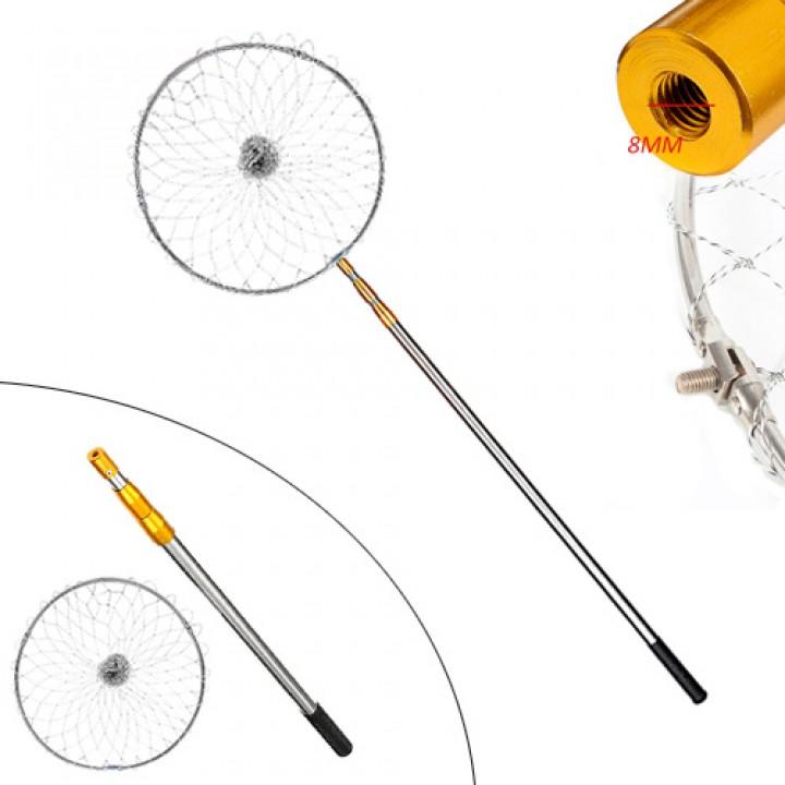 Підсак сачок рибальський 2м телескопічний круглий, алюміній, 105529