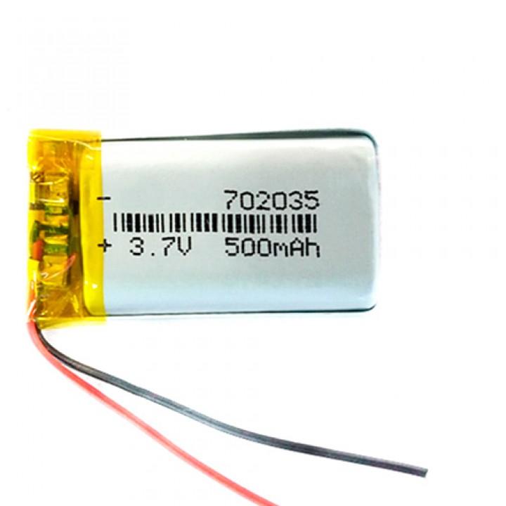 Акумулятор 702035 Li-pol 3.7В 500мАч для RC моделей MP3 MP4 DVR GPS, 100408