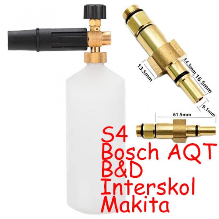 Пінна насадка Пенник 1л для мийок Bosch Aquatak Interskol B & D Makita S4, 100079