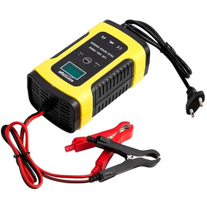 Розумне зарядний пристрій для авто акумуляторів 12В 5А ЖК FOXSUR FBC1205D, 100197
