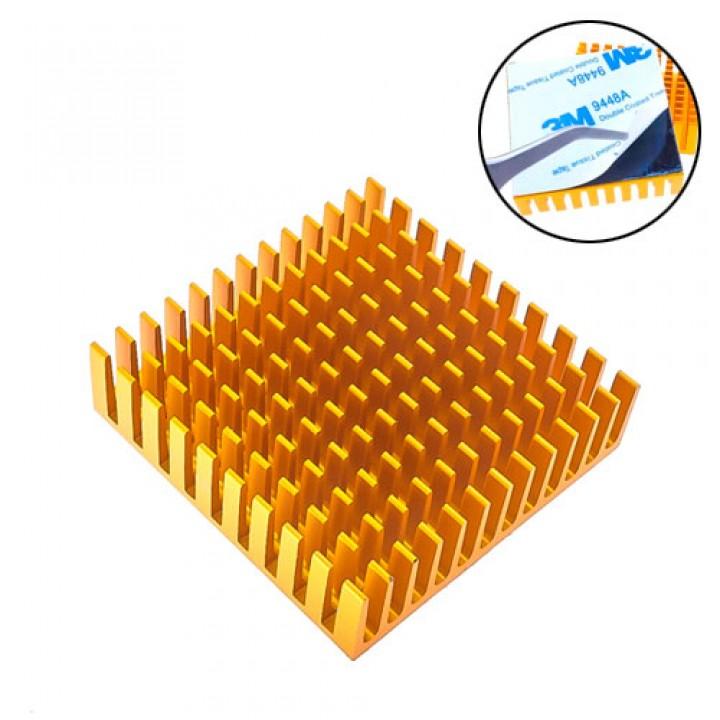 Радіатор алюмінієвий для LED матриць VGA MB 40х40х11мм, клейкий, 101733