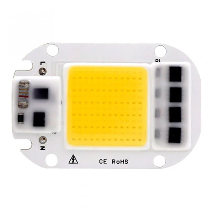 Світлодіодна матриця з драйвером COB LED 50Вт 4500лм 220В, теплий. біла, 104810