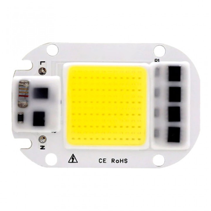 Світлодіодна матриця з драйвером COB LED 50Вт 4500лм 220В, біла, 104809