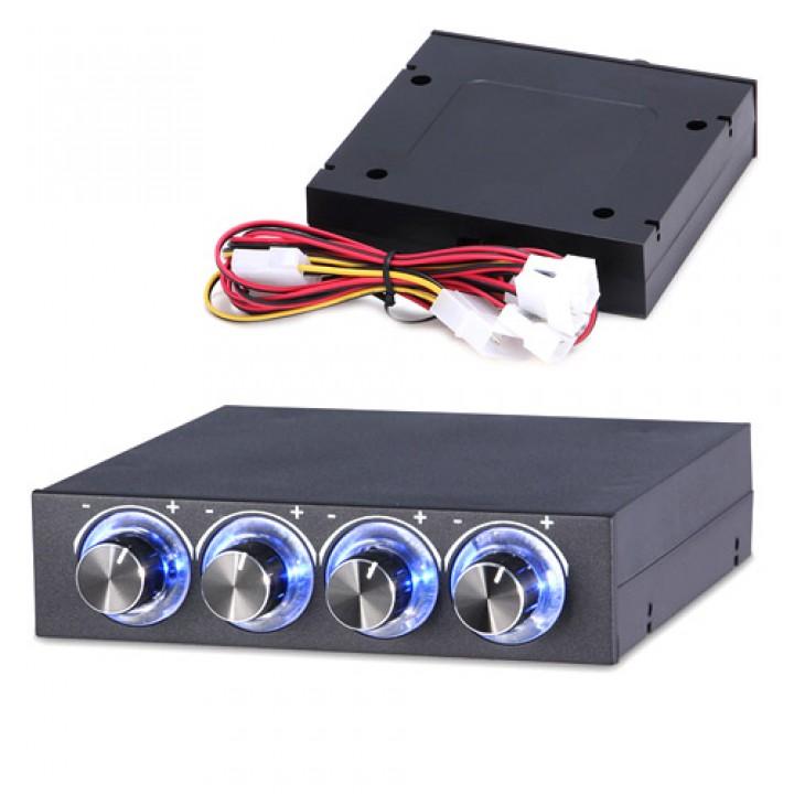 Реобас 3.5 регулятор швидкості обертання вентиляторів ПК, 4 канали, 101556