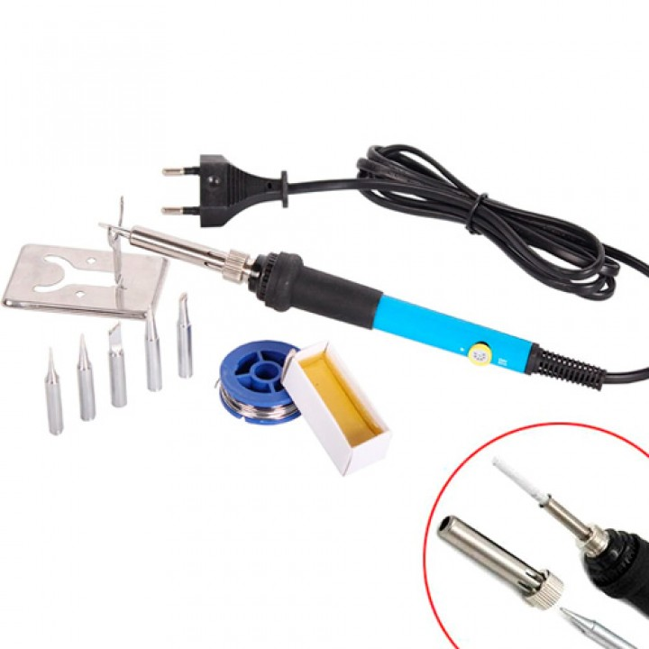 Паяльник електричний регульований 220В 60Вт 200-450C, комплектуючі, 101361